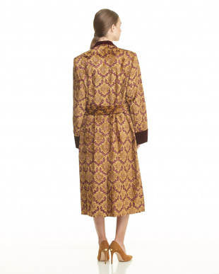 BROWN DAMASK JACQUARD OVER SIZED ROBEを見る