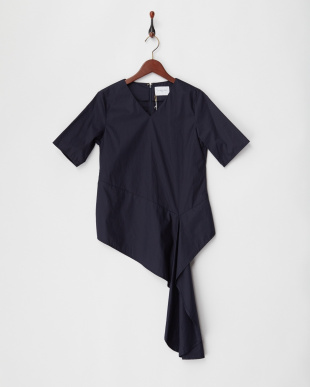 A.NAVY COTTON FRILL TOPを見る