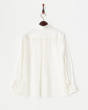 OFF WHITE SATIN BACK-LACE SHIRTを見る