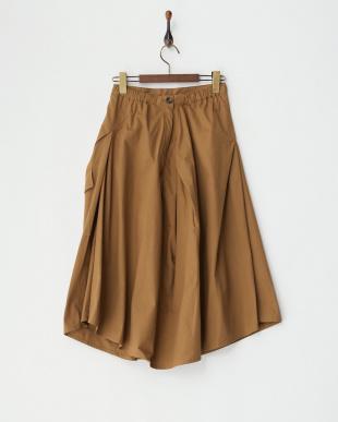 キャメル 変形スカート見る