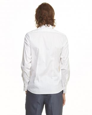 ストライプ(オフ) 2WYストレッチシャツ見る