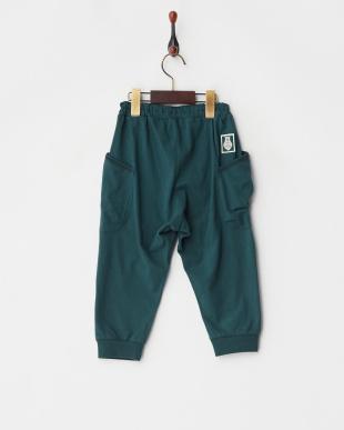 グリーン 7分丈パンツ見る