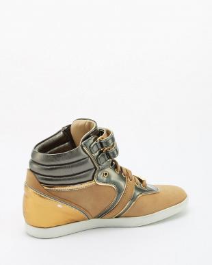VAR.CAMEL カーフレザー カーフレザー + VIT. ラミネートレザー バイカラーSneaker flatVAR.CAMEL見る