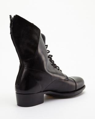 ブラック 5211005024編上ブーツ見る