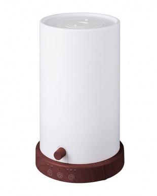 ダークウッド LEDライト調光機能付加湿器 AKARI見る