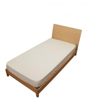 ベージュ シンカーパイル ベッド用クイックシーツ シングル見る