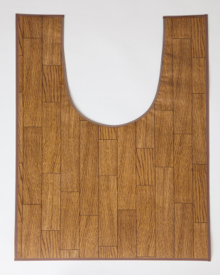 ダークウッド 木目調トイレ用マット 60×90cm見る