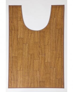 ダークウッド 木目調トイレ用マット 60×100cm見る