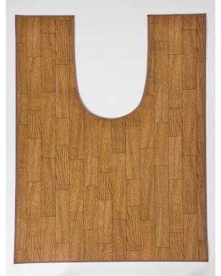 ダークウッド 木目調トイレ用マット 80×120cm見る
