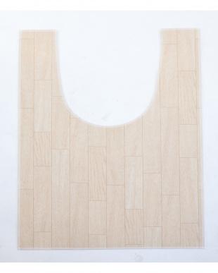 ホワイトオーク 木目調トイレ用マット 60×90cm見る