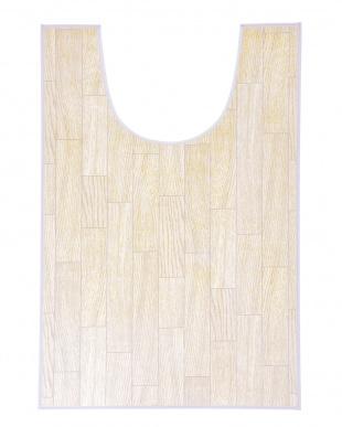 ホワイトオーク 木目調トイレ用マット 60×100cm見る