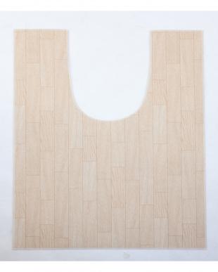 ホワイトオーク 木目調トイレ用マット 80×120cm見る