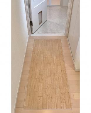 ホワイトオーク 木目調キッチンマット 60×150cmを見る