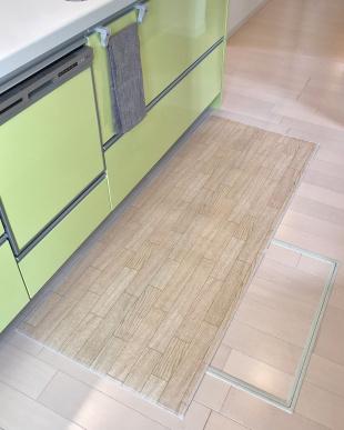 ホワイトオーク 木目調キッチンマット 60×200cmを見る