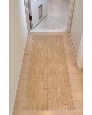 ホワイトオーク 木目調キッチンマット 60×250cm見る