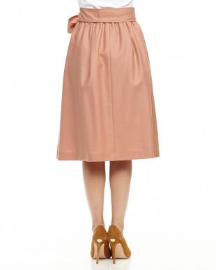 ベビーピンク ウールジョーゼットプルオンスカートを見る