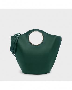 Green サーキュラーカットアウトハンドルトートバッグ / CIRCULAR CUT OUT HANDLE TOTE BAGを見る