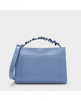 Blue ラッフルハンドルバッグ / RUFFLE HANDLE BAGを見る