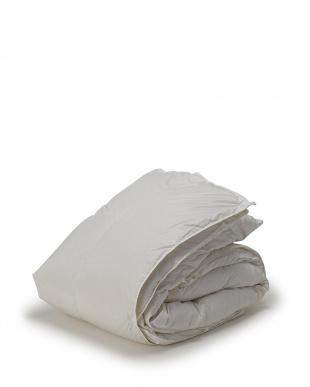ホワイト 年間使える 2枚合わせ羽毛布団 ハンガリー産ホワイトダック90% シングルロングを見る