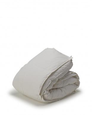 ホワイト 年間使える 2枚合わせ羽毛布団 高級ハンガリー産ホワイトグース90% シングルロング見る
