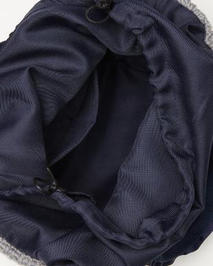 Gray ニット素材 シャーリングハンドルトートバッグを見る