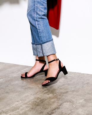 BLACK Square Cutting Asymmetry Sandal見る