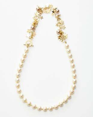 クリーム/ゴールドカラー Necklace見る