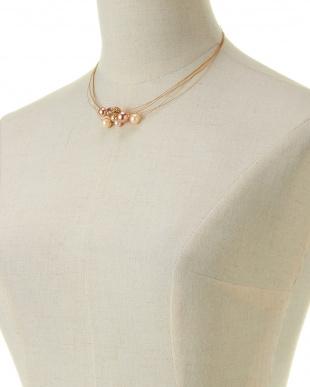 ブラウンマルチ/ゴールドカラー Necklace見る