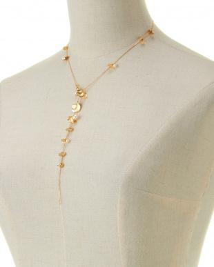 ホワイト/ゴールドカラー Necklace見る