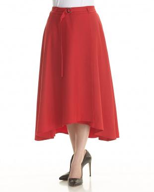 RED ポリエステルリノン 巻き風 スカートを見る