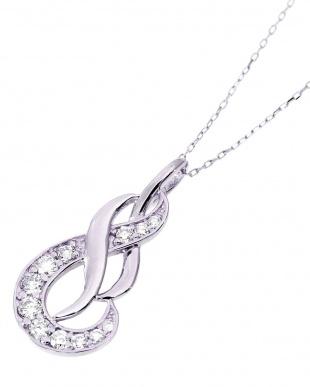 K18WG 天然ダイヤモンド 計0.2ct デザイン ネックレスを見る