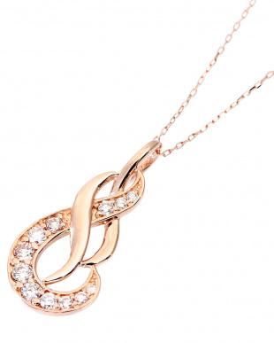 K18PG 天然ダイヤモンド 計0.2ct デザイン ネックレスを見る