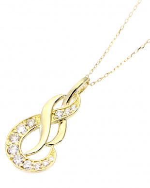 K18YG 天然ダイヤモンド 計0.2ct デザイン ネックレスを見る