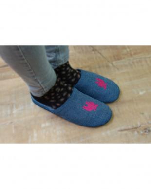 シルバー/ピンク(Mサイズ)+ブロンズ/ブルー(Lサイズ) moz エルク スリッパ デニム MIXセットを見る