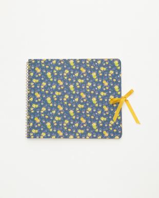 ブルー/アイボリー スクラップノート 2点セット・シック/Flower textile|WOMENを見る