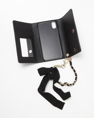 ブラック ハートptブック型IphoneXケース見る