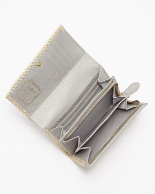 WHITE 二つ折りファスナー付財布見る