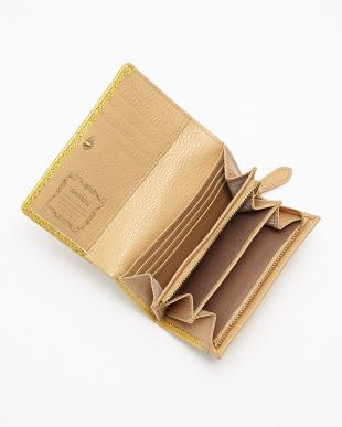 YELLOW 二つ折りファスナー付財布見る