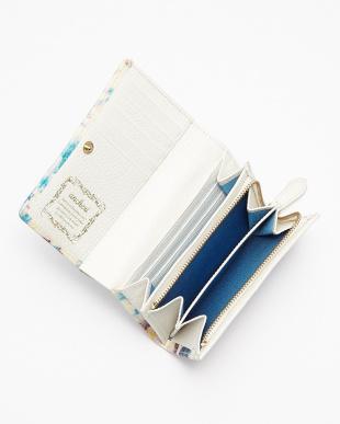BLUE 二つ折りファスナー付財布見る