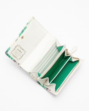 GREEN 二つ折りファスナー付財布見る