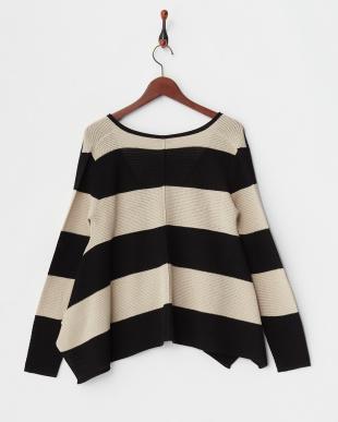 black pattern CONTESTO Knitted Jacket見る