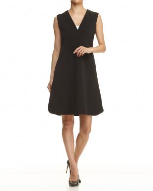 black pattern CORISTA Jersey Dress見る