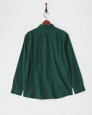 グリーン ダブルピーチ起毛レギュラーシャツを見る