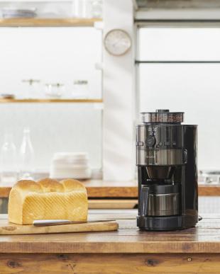 ブラック siroca コーン式全自動コーヒーメーカー SC-C121見る