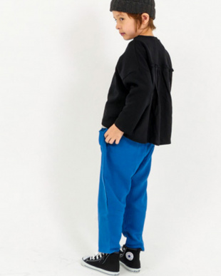 BLUE ダブルガーゼ リラックス パンツ見る