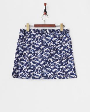 ネイビー WOMEN'S リーフ柄スカートを見る