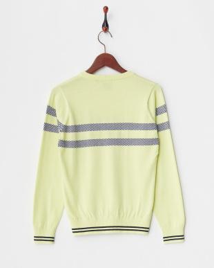 ペールイエロー WOMEN'S Vネックセーターを見る