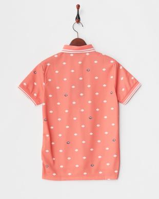 ピンク WOMEN'S シールドドット半袖ポロを見る