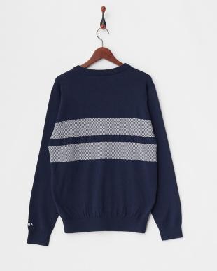 ネイビー MEN'S Vネックセーターを見る