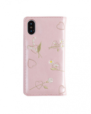 BABY PINK FLOWER EMBROIDERYケース(iPhoneXS/X対応)を見る